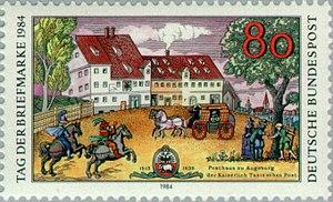 Thurn-und-Taxis Post - Deutsche Bundespost 1984 stamp commemorating the Kaiserlichen Taxis'schen Post