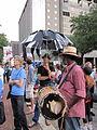BP Dead Pelicans Lafayette Square Dripping Umbrella.JPG