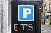 BTS multicoloured graffito on parking meter, Oban, July 2020.jpg