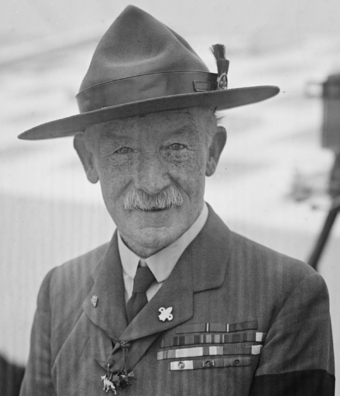 Robert Baden-Powell, founder of the Scouting movement Baden-Powell ggbain-39190 (cropped).png