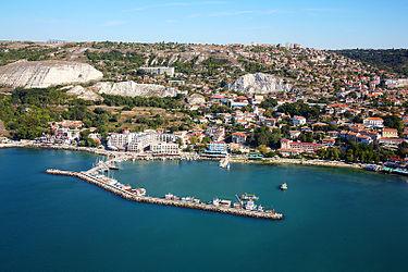 Балчик, Болгария, аэрофотоснимок Черного моря.jpg