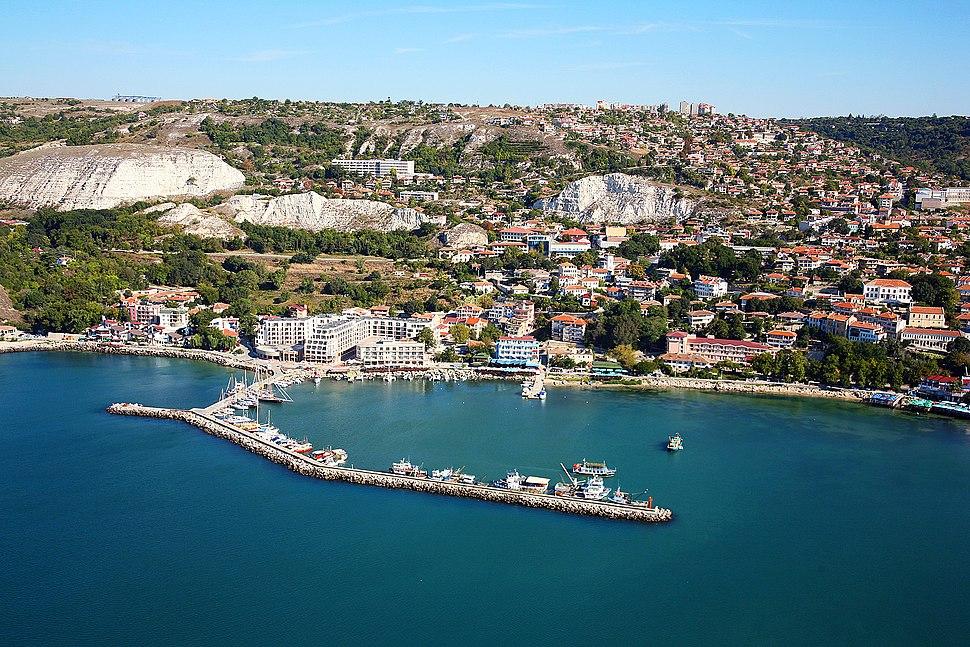 Balchik Bulgaria aerial photo from the Black Sea