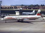 Balkan Bulgarian Airlines Il-18 LZ-BEK LBG September 1974.png