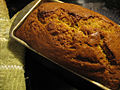 Banana bread fresh from the oven, October 2009.jpg
