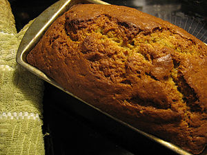 Banana bread fresh from the oven.
