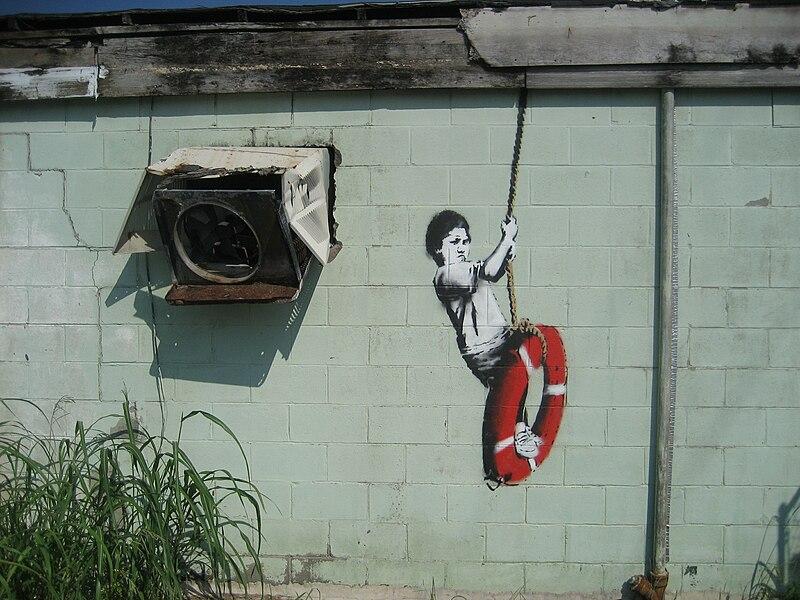 [تصویر:  800px-Banksy_Swinger_Building_Detail.jpg]