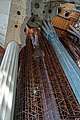 Barcelona - La Sagrada Família - View North on the construction of 170 meter high Tower of Jesus Christ.jpg