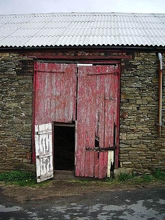 Wicket gate - A wicket gate in a barn door.