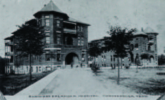 Erlanger Health System - Photo of Erlanger Hospital taken in the late 1800s