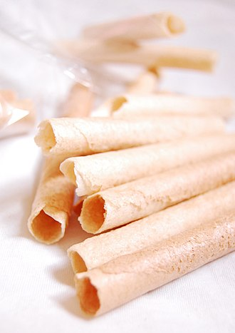 Biscuit roll - Image: Barquillos