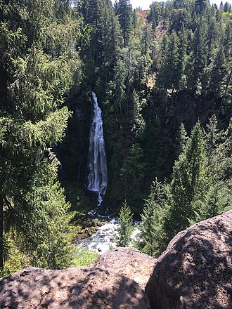 Prospect State Scenic Viewpoint - Barr Creek Falls in May