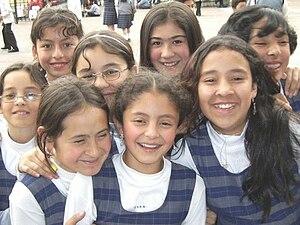 Women's rights in Colombia - School girls in Colombia
