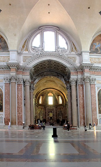English: Interier of Basilica Santa Maria degl...