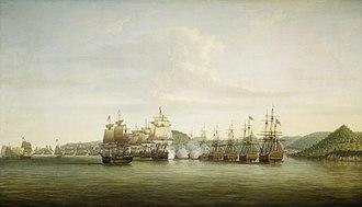 HMS Pearl (1762) - D'Estaing's fleet attacks Barrington's at St Lucia