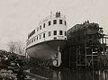 Bateaux en construction a la Davie Shipbuilding Ltd de Lauzon vers 1910.jpg