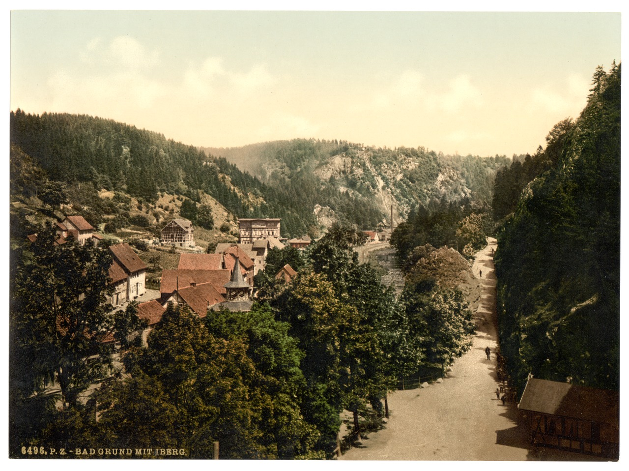 Bath Grund i.e., Bad Grund with Iberg, Hartz, Germany ...