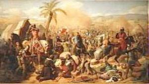 Battle of Ascalon - Battle of Ascalon, in which Godfrey of Bouillon defeated the Vizier al-Afdal