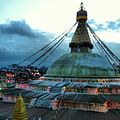 Baudda Stupa in Evening.JPG