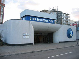 Bayerischer Platz (Berlin U-Bahn) - South entrance building to Bayerischer Platz U-Bahn station until 2013)