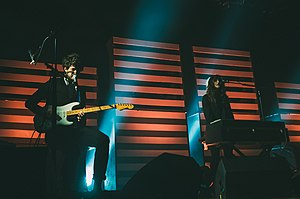Beach House performing live in July 2012