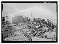 Beirut, Junior Girls' College, administrative bldg. (i.e., building), north side, tennis courts LOC matpc.12781.jpg