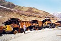 BelAZ dump trucks burned during the Civil War in Tajikistan 2.jpg