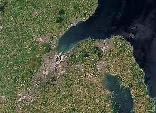 Belfast Lough intertidal inlet in Northern Ireland