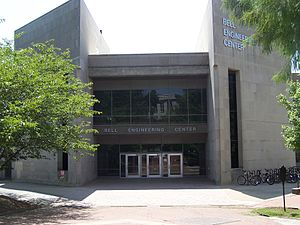 University of Arkansas - Bell Engineering Center contains the College of Engineering.