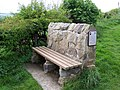 Bench facing south east by the side of the footpath - geograph.org.uk - 435364.jpg