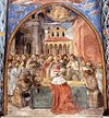 Benozzo Gozzoli - Scenes from the Life of St Francis (Scene 12, south wall) - WGA10243.jpg