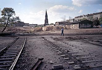 Görlitzer Park - The last train track, May 1987