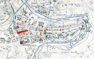 Spitalgasse - Old City of Bern with Spitalgasse highlighted