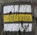 Beskydy, turistické značení (žlutá z cesty Filipka - Bystřice).JPG