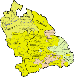 Hunyad County - Hunyad county in the Principality of Transylvania