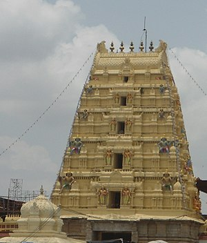 Sita Ramachandraswamy temple, Bhadrachalam - One of the gopurams of the temple
