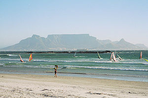 Bloubergstrand - Recreation at Bloubergstrand, with Table Mountain in the background