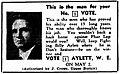 Bill Aylett 1953 election advertisement.jpg