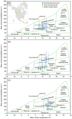 Biome charts showing the paleoclimate data plotted against modern climate parameters defining modern biomes - Margaret Formation.png