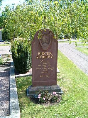 Birger Sjöberg - Image: Birger Sjöberg gravsten