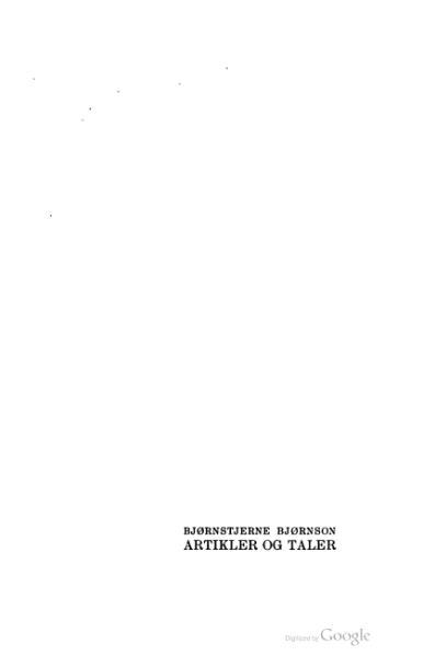 File:Bjørnstjerne Bjørnson - Artikler og taler 1.djvu
