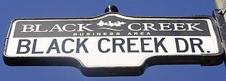 Black Creek Drive - Image: Black Creek Drive Sign