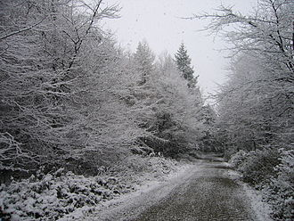 Climate of Ireland - Snow in Wicklow