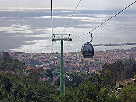 Blick über Funchal, von der Seilbahn aus
