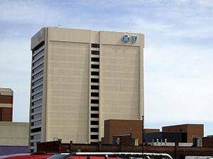 Blue Cross Blue Shield of Michigan Building - Image: Blue Cross Blue Shield Detroitside