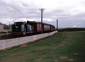 Bo'ness and Kinneil Railway - A view of the railway at the Bo'ness end of the line in 1985
