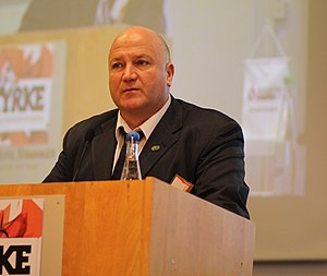 Bob Crow - Crow at Industri Energi's Styrke conference in 2012