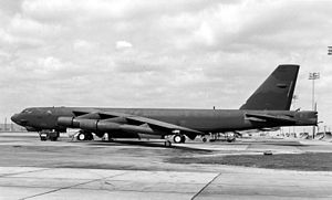 K. I. Sawyer Air Force Base - A Boeing B-52H (SN 60-0017), the type assigned to the 410th Bomb Wing at K. I. Sawyer AFB