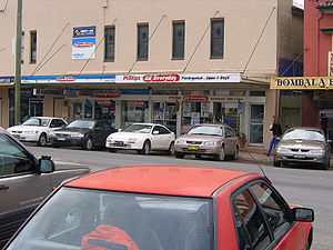 Parking space - Bombala's (perpendicular) back-in parking style.
