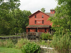 Elkhart County, Indiana - A view of the mill at Bonneyville Mill County Park.