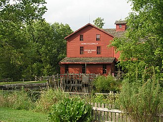 Elkhart County, Indiana - A view of the mill at Bonneyville Mill County Park